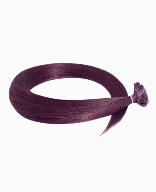 Pre-bonded Remy Human Hair Extensions - Straight - Excellence - Color 99J