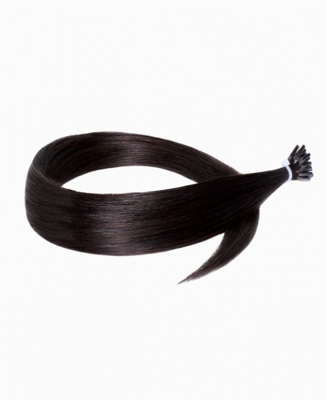 Micro Ring Remy Human Hair Extension - Straight - Excellence - Color 1B