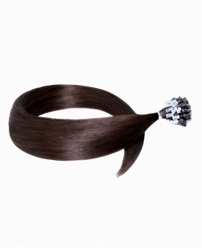 """Easy Loop Remy Human Hair Extension 18"""" - Straight - Excellence - Color 2"""