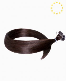"""Pre-bonded Remy Human Hair Extensions 22"""" - Straight - European - Color 2"""