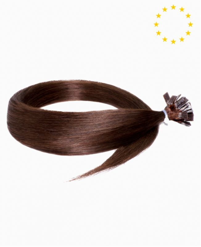 """Pre-bonded Remy Human Hair Extensions 22"""" - Straight - European - Color 4"""