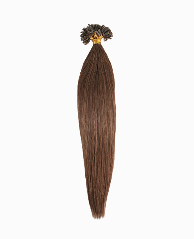 """Pre-bonded Remy Human Hair Extensions 18"""" - Straight - Premium - Color 8"""
