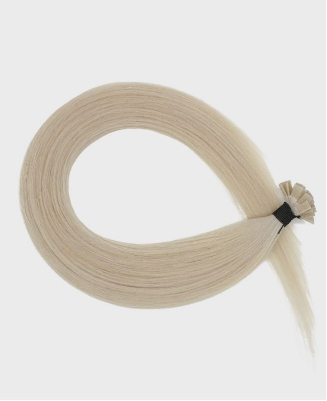 Pre-bonded Remy Human Hair Extensions - Straight - Excellence - Color Ivory