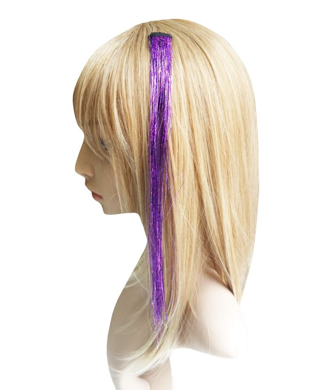 Extension a clip - Crazy filament paillette - Violet