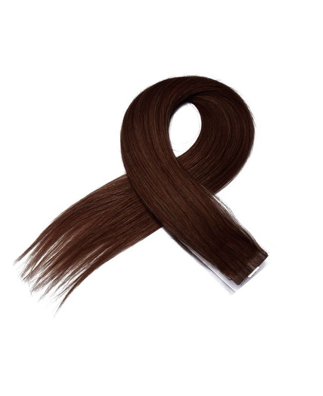 4 Tape in Hair Extensions 50 cm SOCAP - Straight - Color 6