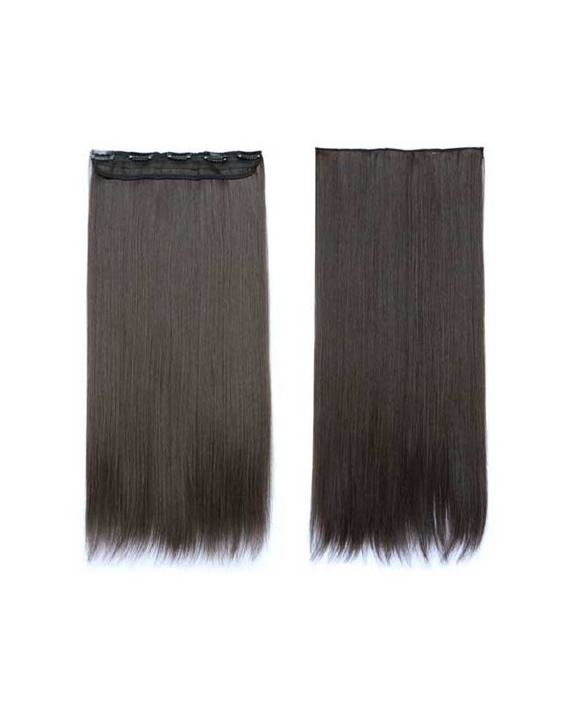 """Mono Clip in Hair Extension 18"""" (Set of 150 gr) Straight - Synthetic Fiber - Color 2"""