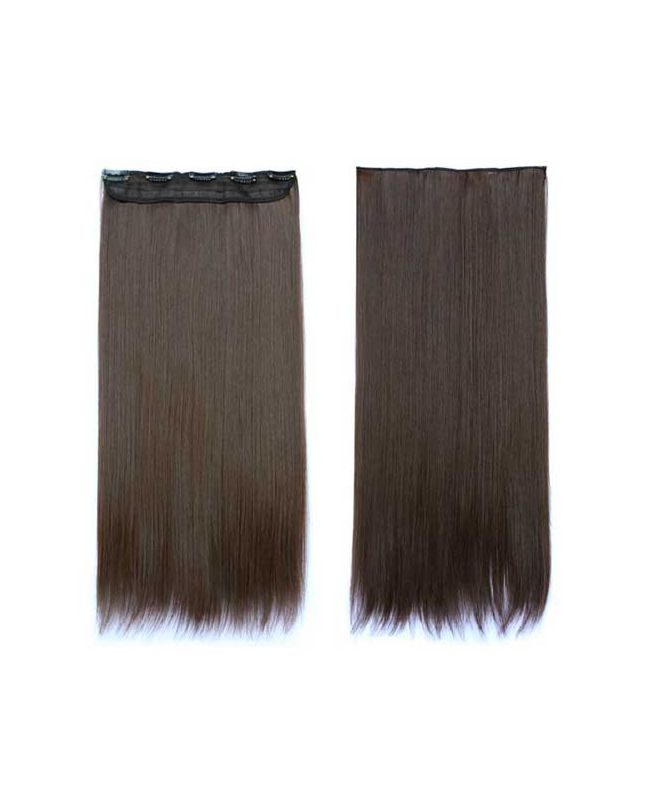 """Mono Clip in Hair Extension 18"""" (Set of 150 gr) Straight - Synthetic Fiber - Color 4"""