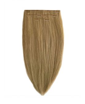 Extension à Clip Naturel 40 cm | Extension cheveux Lisse - Blond clair doré cendré N°14