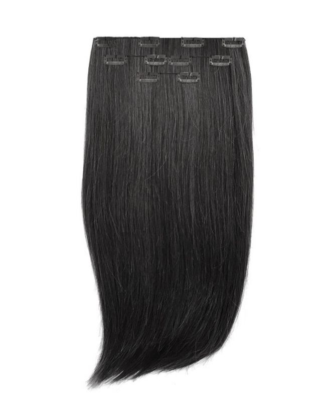 Extension à Clip Naturel 40 cm | Extension cheveux Lisse - Noir N°1