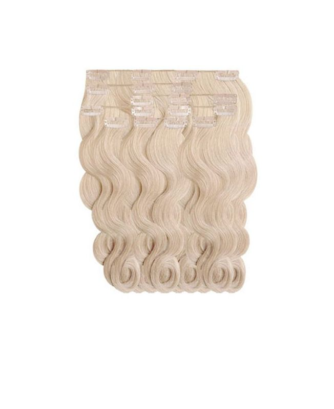 """Clip in Human Hair Extensions 18"""" (Set of 110 gr) Nature Wave - Excellence - Color 22"""