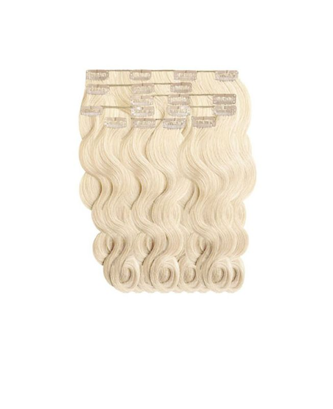 """Clip in Human Hair Extensions 18"""" (Set of 110 gr) Nature Wave - Excellence - Color 60"""