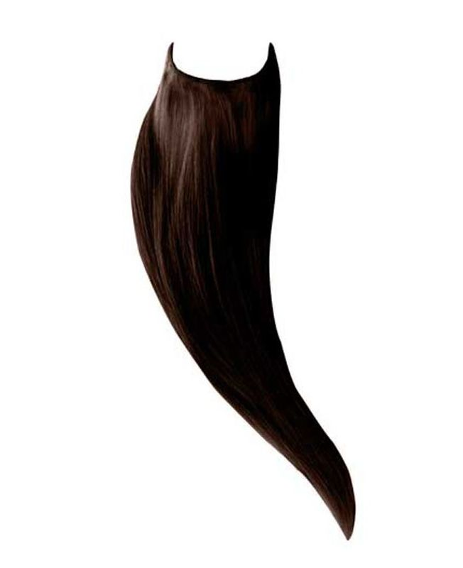 """Flip in Human Hair Extensions 18"""" (Set of 105 gr) Straight - Excellence - Color 2"""
