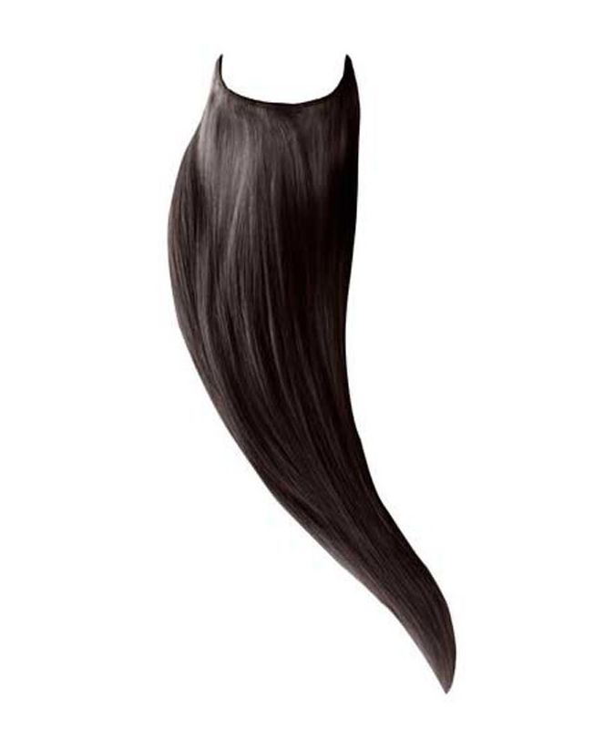 """Flip in Human Hair Extensions 18"""" (Set of 105 gr) Straight - Excellence - Color 1B"""