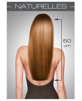Extension cheveux Lisse SOCAP - 10 Extensions kératine 50 cm - Blond Naturel doré cendré 14