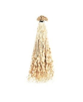 Extension cheveux Bouclé SOCAP - 10 Extensions à chaud 50 cm - Blond Platine 1001