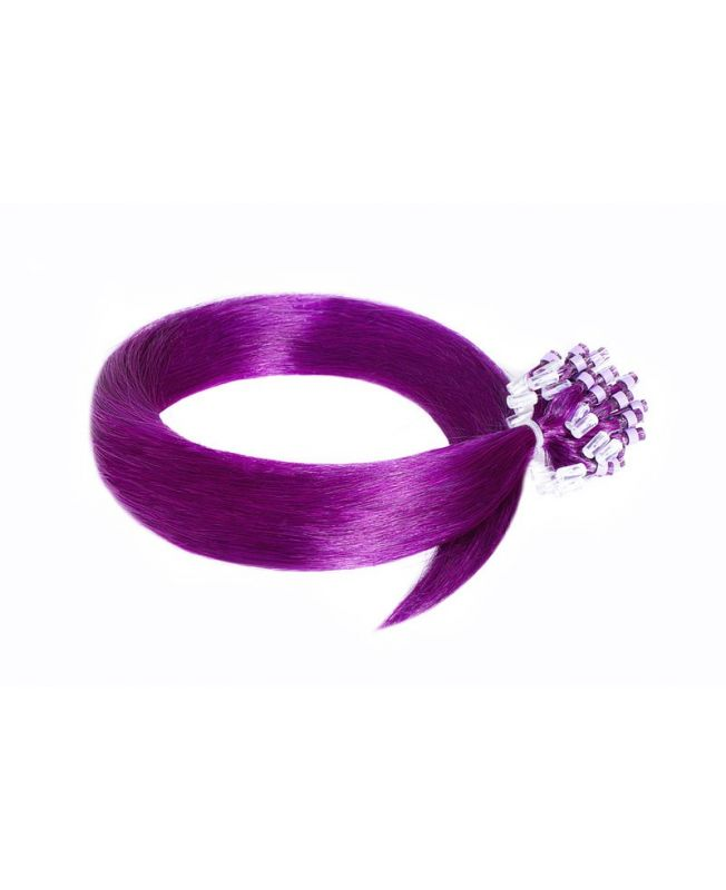 Extension à froid - LOOP Flashy Color Violet - Extension cheveux Remy Hair