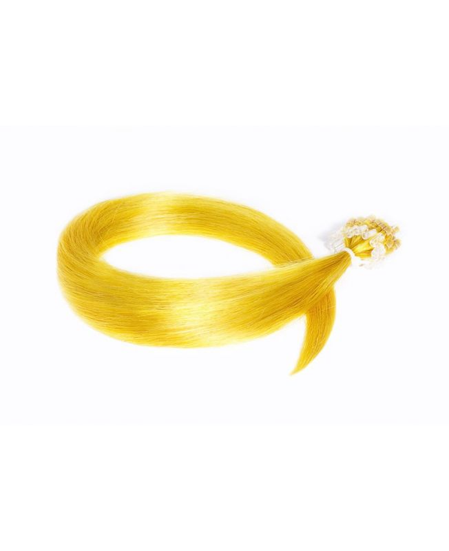 Extension à froid - LOOP Flashy Color Jaune - Extension cheveux Remy Hair