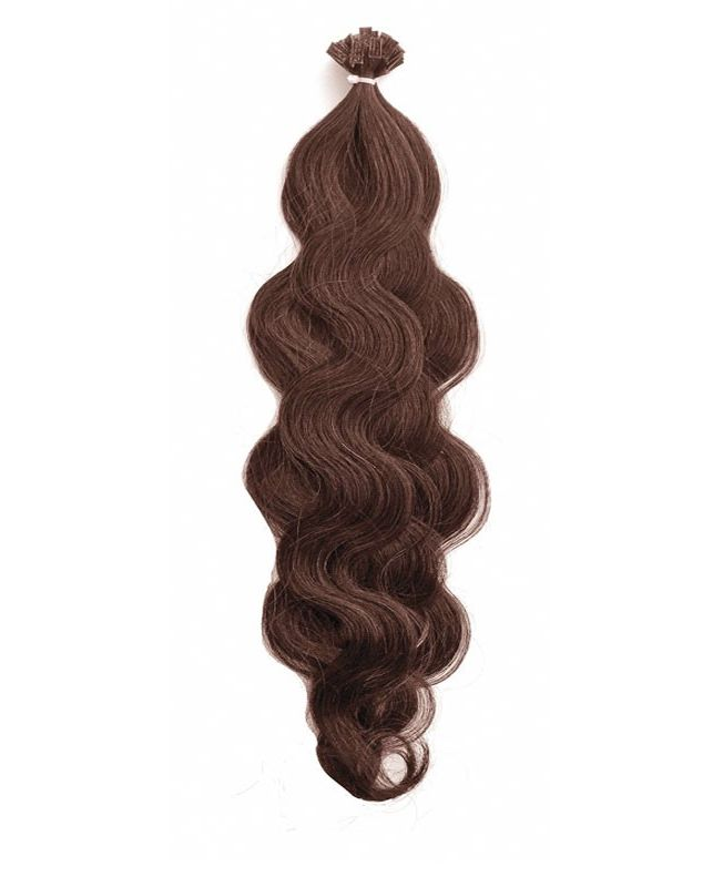 """Pre-bonded Remy Human Hair Extensions 18"""" - Wave - Excellence - Color 4"""