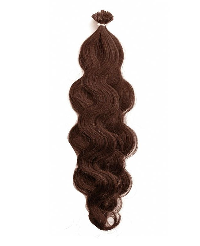 """Pre-bonded Remy Human Hair Extensions 18"""" - Wave - Excellence - Color 6"""