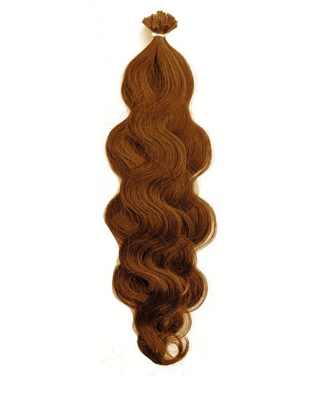 """Pre-bonded Remy Human Hair Extensions 18"""" - Wave - Excellence - Color 10"""