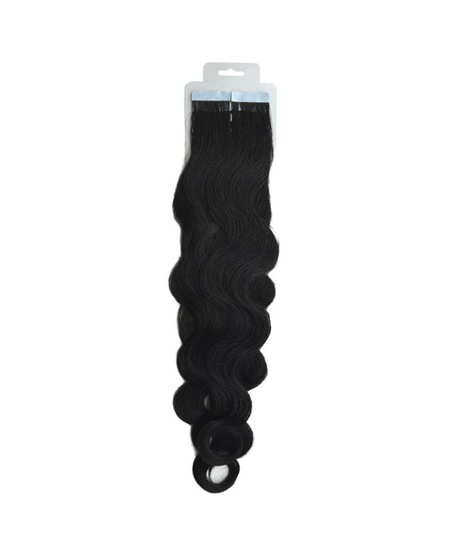 Tape in Remy human Hair Extensions - Nature Wave - Excellence - Color 1