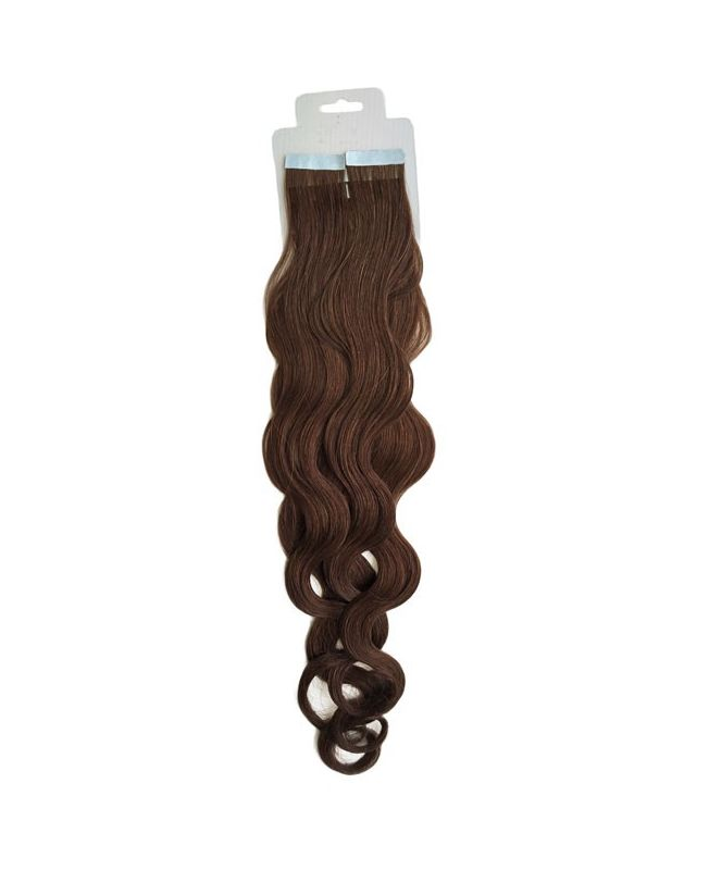 Tape in Remy human Hair Extensions - Nature Wave - Excellence - Color 4