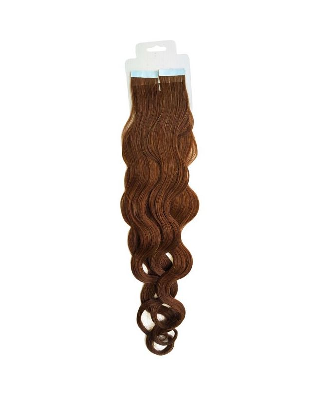 Tape in Remy human Hair Extensions - Nature Wave - Excellence - Color 6