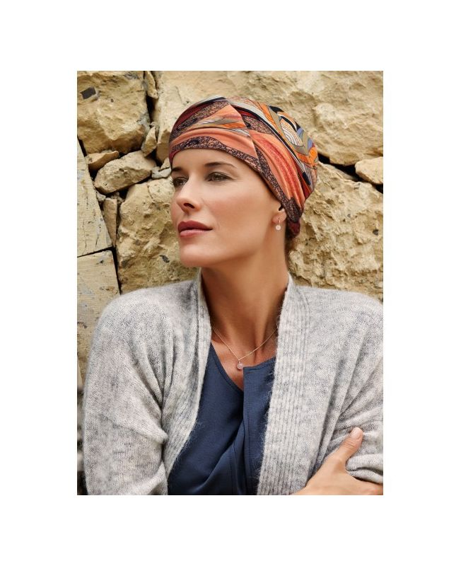 Turban / Foulard pour Chimiothérapie - Meda Red Summer - Collection MIO by Ellen Wille