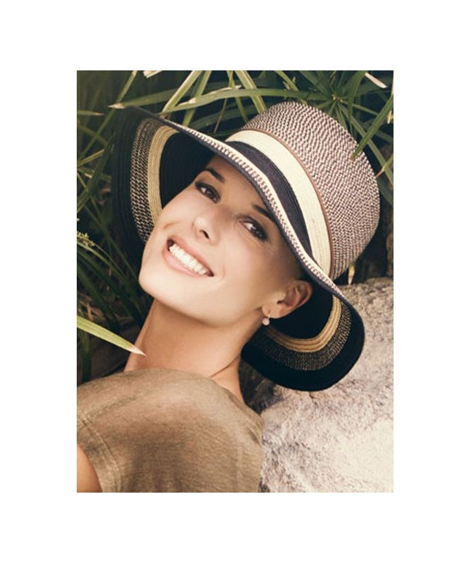 Chapeau Femme - Mica Black Beige - Collection Mio by Ellen Wille