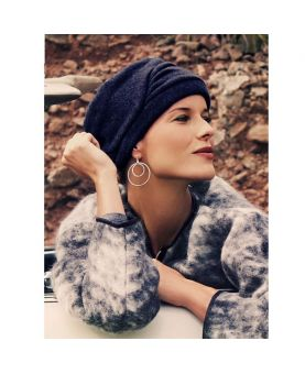 Turban / Foulard pour Chimiothérapie - Milva Blue - Collection MIO by Ellen Wille