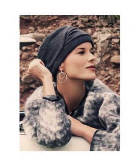 Turban / Foulard pour Chimiothérapie - Milva Dark Charcoal Grey - Collection MIO by Ellen Wille