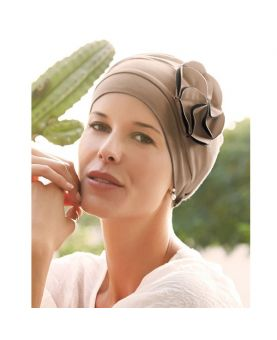 Turban / Foulard pour Chimiothérapie - Mora Dark Sand - Collection MIO by Ellen Wille