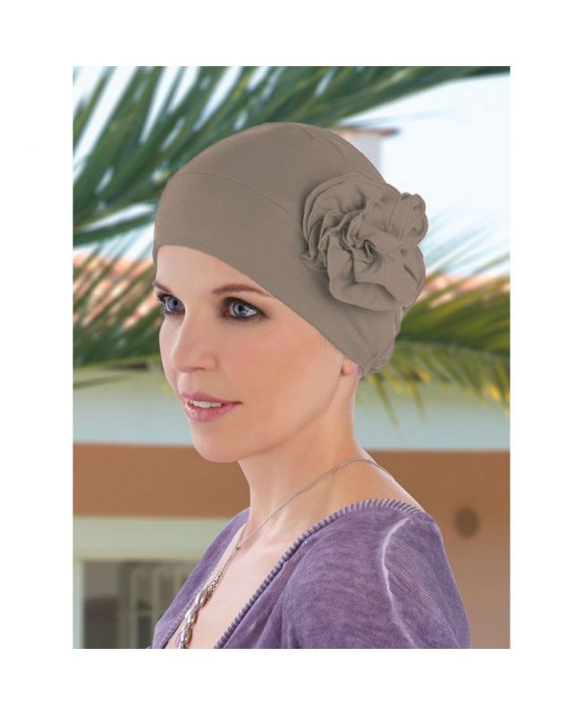 Turban / Scarf for Chemotherapy - Bonnet Lyra taupe