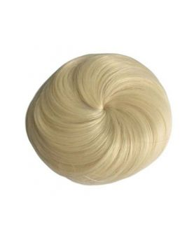 Chignon chic rond synthétique - Blond platine N°613 - Postiche cheveux