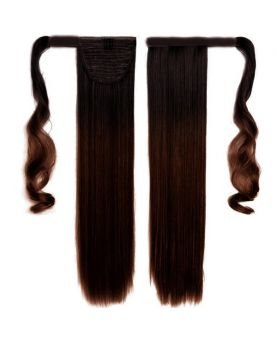 Queue de cheval Naturelle - Tie & Dye Brun N°1B/4 - Extension cheveux - postiche
