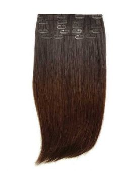 Extension a Clip Lisse - Ombré Brun N°1B/4 - Extension cheveux