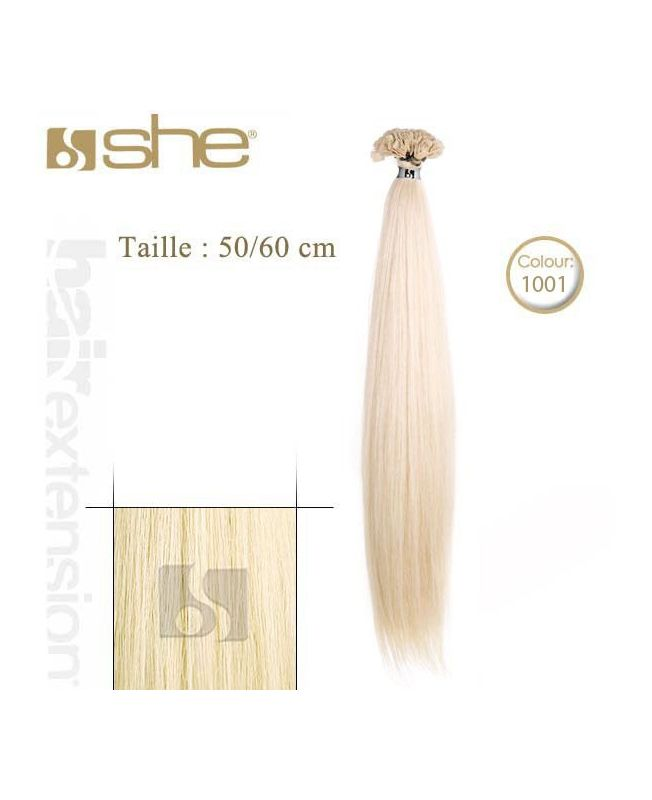 Extension cheveux Lisse - SHE by Socap - 10 Extensions kératine 50/60 cm - N°1001