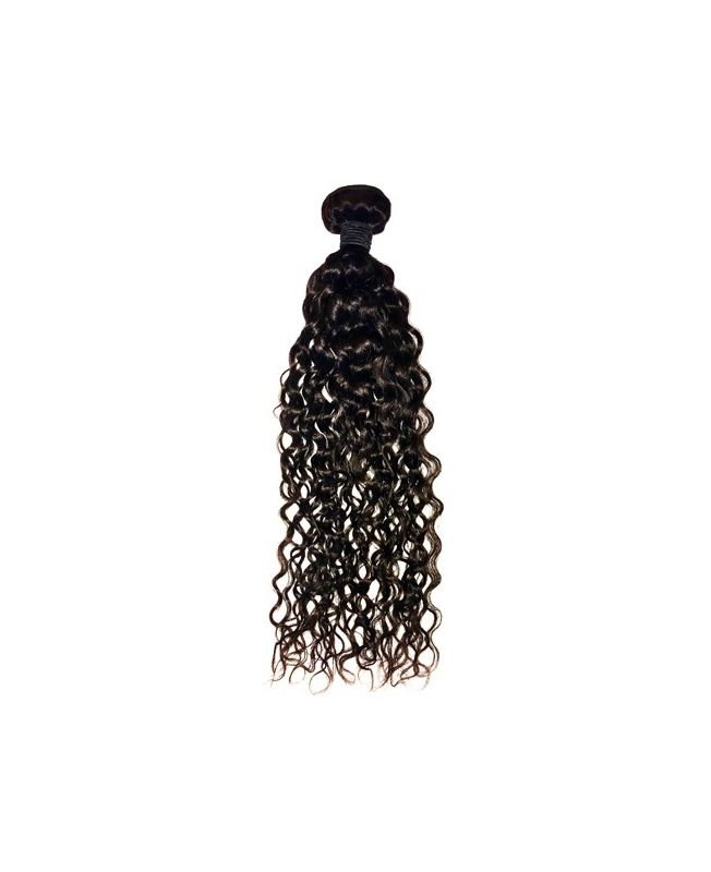 """Hair Weft Virgin Human Extensions 22"""" (Set of 100 gr) Curly - Natural Color 1B"""