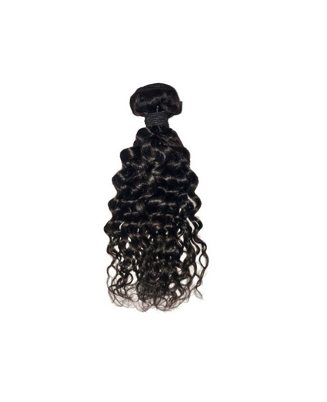 """Hair Weft Virgin Human Extensions 14"""" (Set of 100 gr) Curly - Natural Color 1B"""